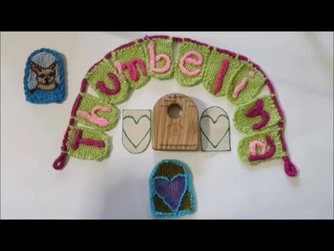 Thumbelina Loom Tapestry techniques ( heart with stripes)