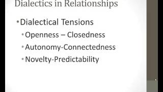 Relational Dialectics