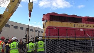 Derailment and Rerailing of FEC Ringling Brothers Circus Train - Part II 01.16.2017