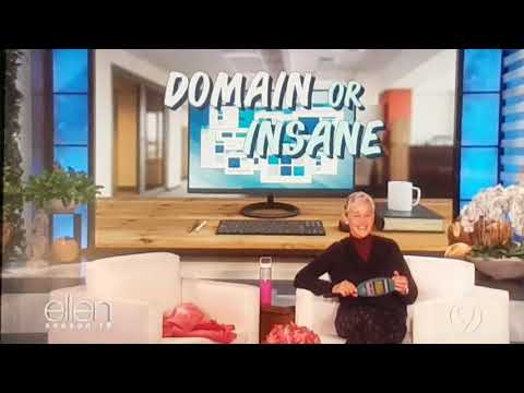 Ellen Degeneres Domain or Insane 2017