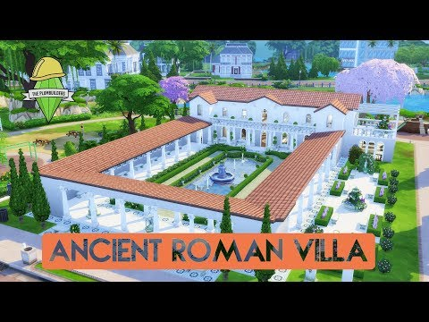 Sims 4 | House Building | Ancient Roman Villa (Plumbuilders