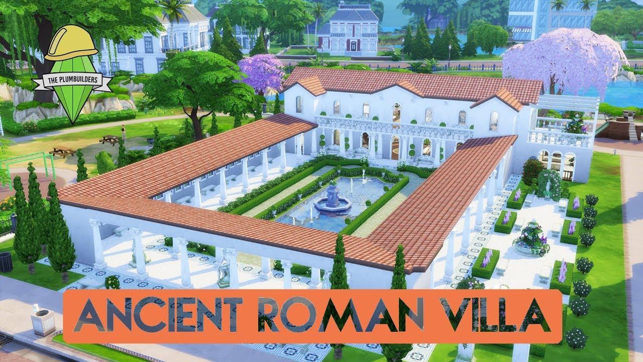 Sims 4 house building ancient roman villa