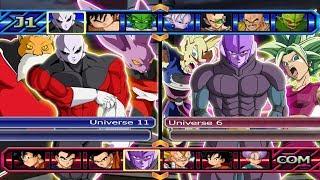 Universe 11 VS Universe 6 | Dragon Ball Z Budokai Tenkaichi 3