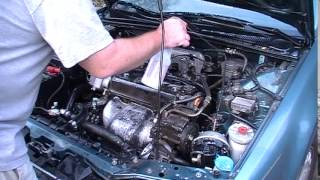 Cleaning the engine bay