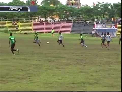 Football Match in Bilaspur Railway North East Railway Institute C.G.