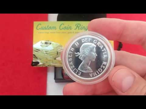 Kate Reid Artwork Wednesday & Unpacking Custom Coin Rings USA CSS 100 Days of Silver Stacking Day 92