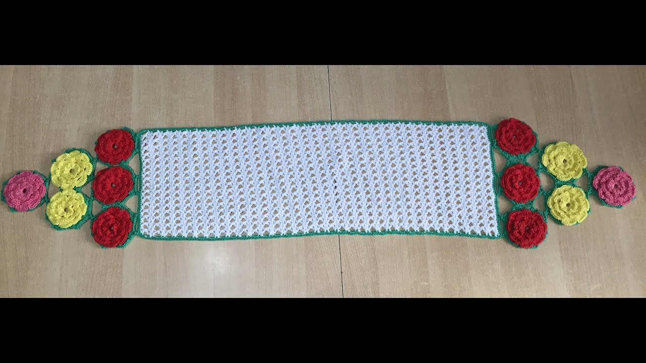 tuto crochet facile chemin de table avec fleur hexagone - youtube