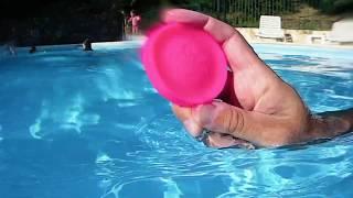Frisbeam à la piscine ! C'est ludique .