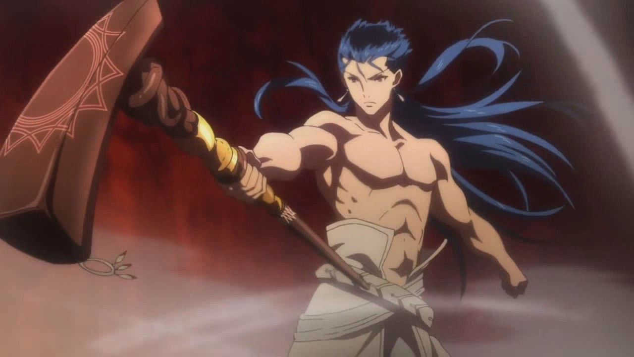 Fate Grand Order First Order Caster Cu Chulainn Vs Alter Saber