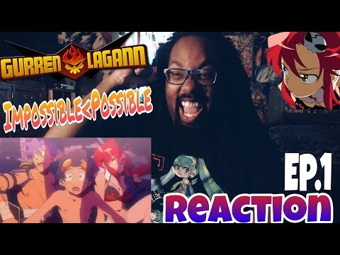DRILL THROUGH THE HEAVENS! GURREN LAGANN EPISODE 1 REACTION