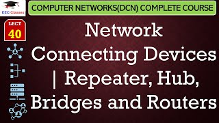 Connecting Devices – Repeater(HUB), Bridges and Routers Lecture(Hindi, English)