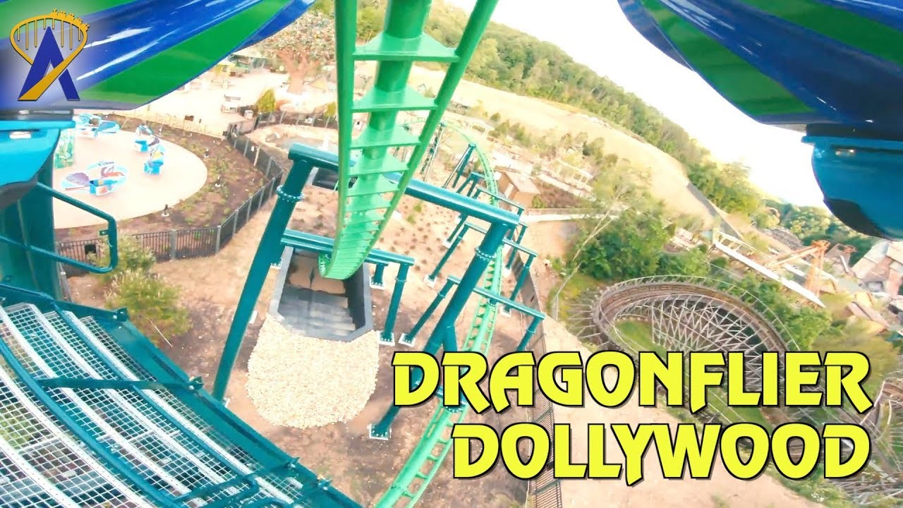 Dragonflier Roller Coaster POV in Wildwood Grove at Dollywood