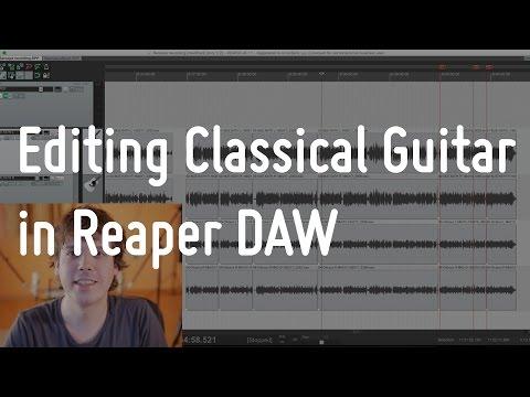 Editing Classical Guitar in Reaper   Guitarise ep6