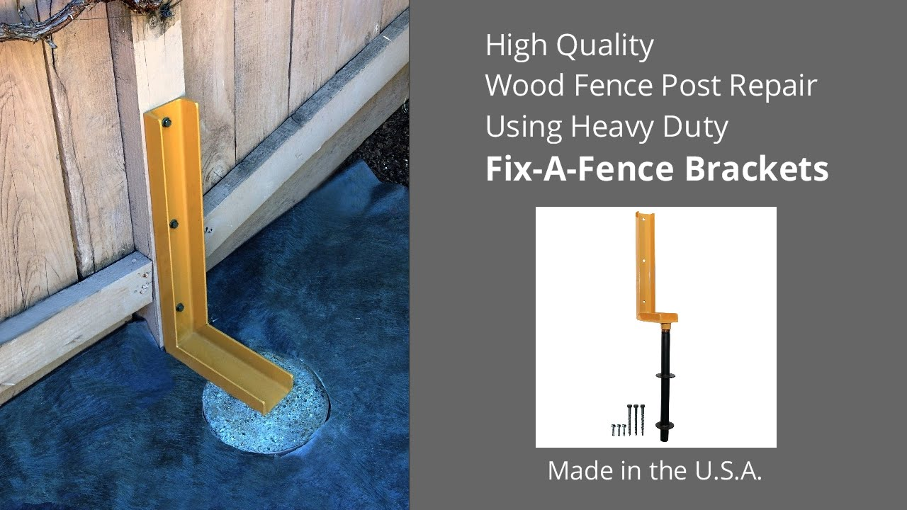 How to Repair a Leaning Wood Fence