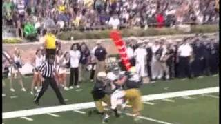 Notre Dame Rice Football Highlights