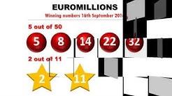 Euromillions Gewinnzahlen vom 16.9.2016; Jackpot mit fast 40 Mio. € geknackt!