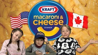 German Kids try Kraft Dinners (Mac & Cheese)