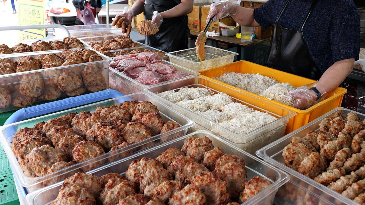 억소리 나는 매출? 떡갈비 하나로 시장을 평정한 역대급! 떡갈비 몰아보기 TOP4 / amazing popular hamburger steak / korean street food