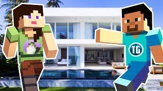 OUR NEW HOUSE!! - MINECRAFT w/ MY BOYFRIEND