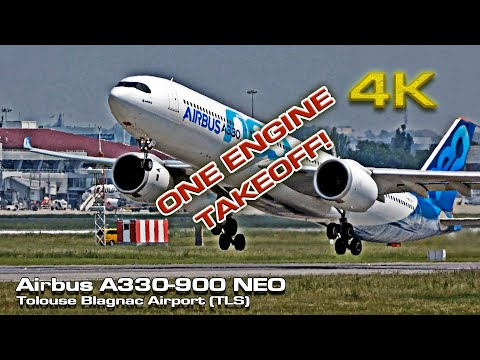 Airbus A330-900 NEO [4K] (One Engine Takeoff!)