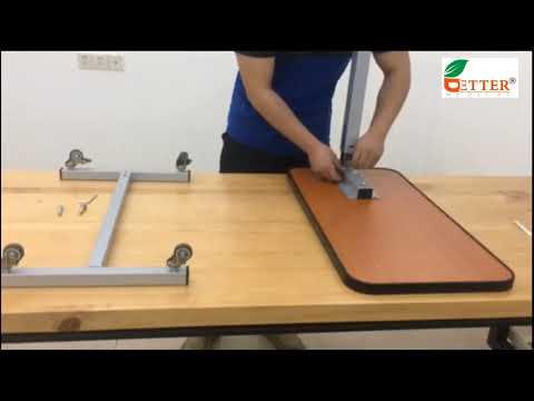 Better Medical Hospital Overbed Table Multi Function Adjusting Over Bed Table