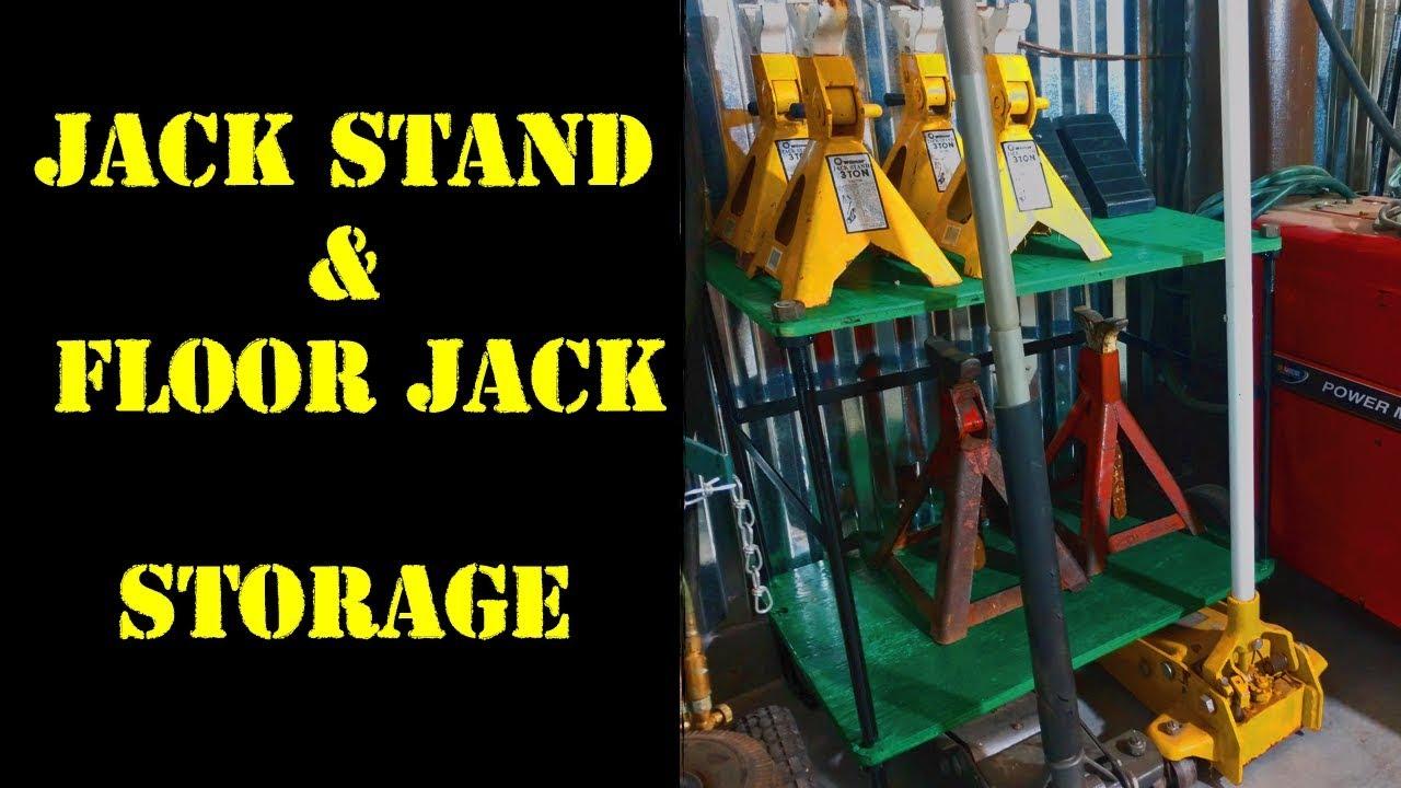 Jack Stand Floor Jack Storage Youtube