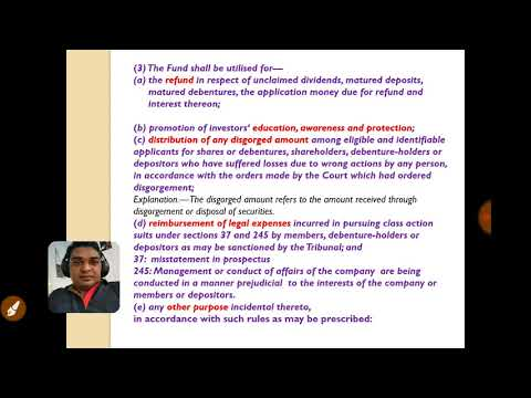 CA. Final investor education and protection fund section 125 of Companies Act 2013 by Kalp Shah