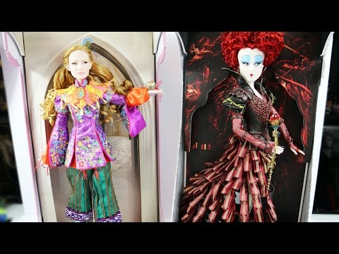 Limited Edition Disney Store Dolls / Alice Through the Looking Glass Red Queen and Alice Review