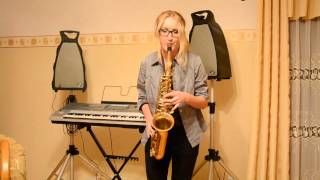 alto saxophone: Monika Wanat a home made cover I'm a self taught pl...