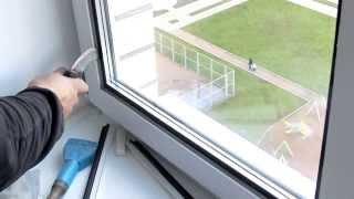 Замена стеклопакетов. Установка стеклопакета в створку(, 2013-11-03T19:12:26.000Z)