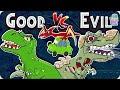 The Jurassic   Good Vs Evil   Dinosaurs Cartoon For Children   Dinosaur Story Episode 8