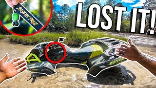 Can-Am KEY FALLS OFF IN DEEP MUD HOLE! *EPIC RIDE*