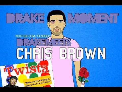 Drake Moment: Drake Meets Chris Brown [Cartoon Parody]