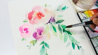 [LVL2] Watercolor Flowers Tutorial - Step by Step