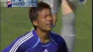 サッカーW杯・日本VSクロアチア・柳沢のシュート thumbnail