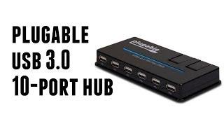 Plugable USB 3.0 10-Port Hub (48W Power Adapter)