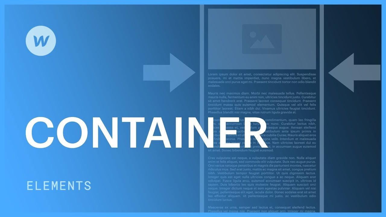 Container | Webflow University
