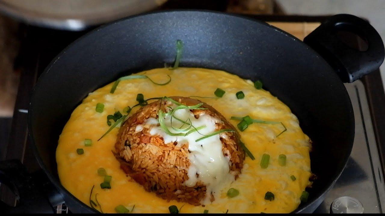 Volcano Kimchi Fried Rice   Lava Fried Rice  Food Vlog   Cheesy Fried Rice