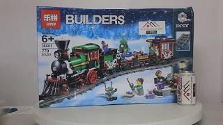 Mở hộp Lepin 36001 Lego Creator 10254 Winter Holiday Train giá sốc rẻ nhất