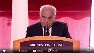 Grundsteinlegung Erfurt - Grußwort von Herrn Prof. Dr. Reinhard Schramm, Jüdische Landesg. Thüringen
