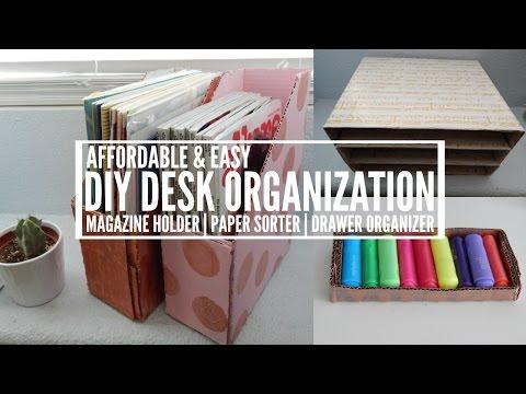 DIY Magazine Holder, Paper Sorter, & Drawer Organizer!