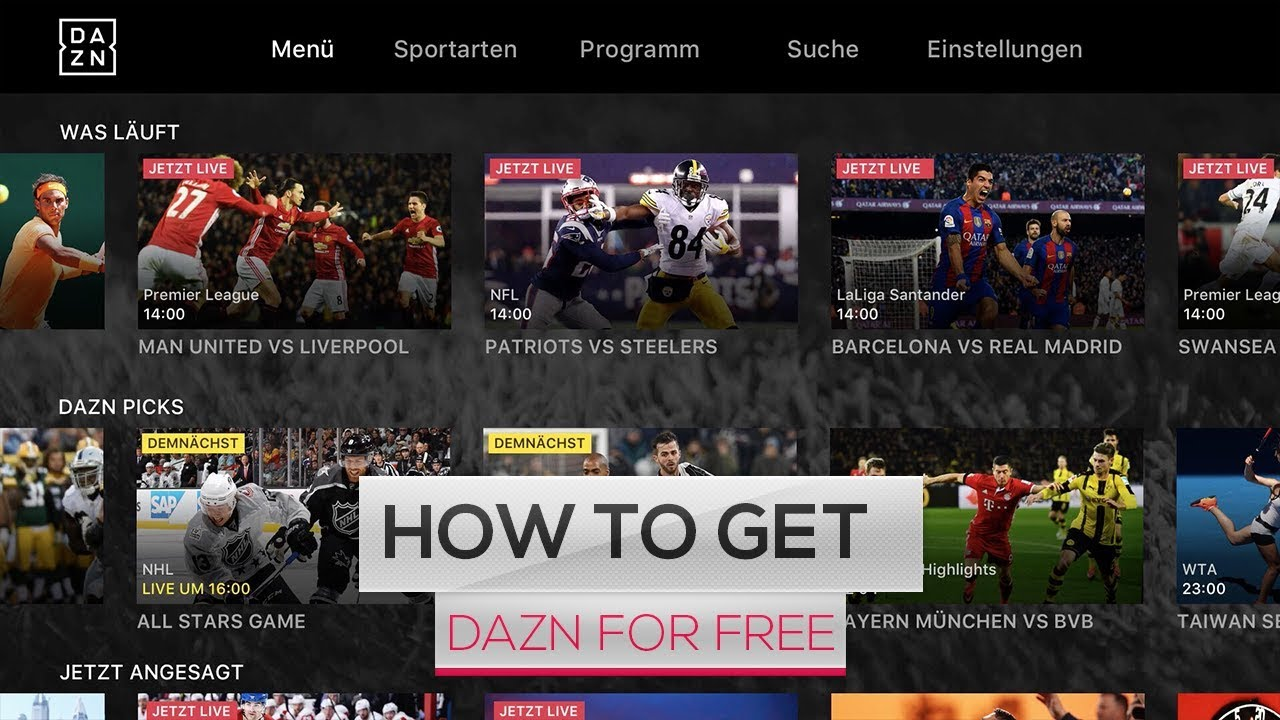 New  How To Get Free Dazn Account Method  2017 Working
