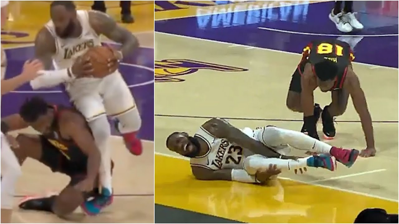LeBron James battles sore ankle as frustrated Los Angeles Lakers ...