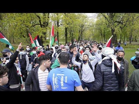 مسيرات تضامنية مع فلسطين في عدد من دول العالم  - نشر قبل 3 ساعة