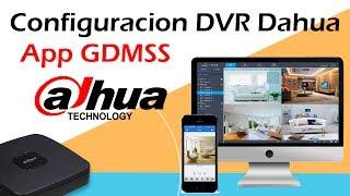 Configurar DVR Dahua  para conexión por celular app Gdmss codigo QR