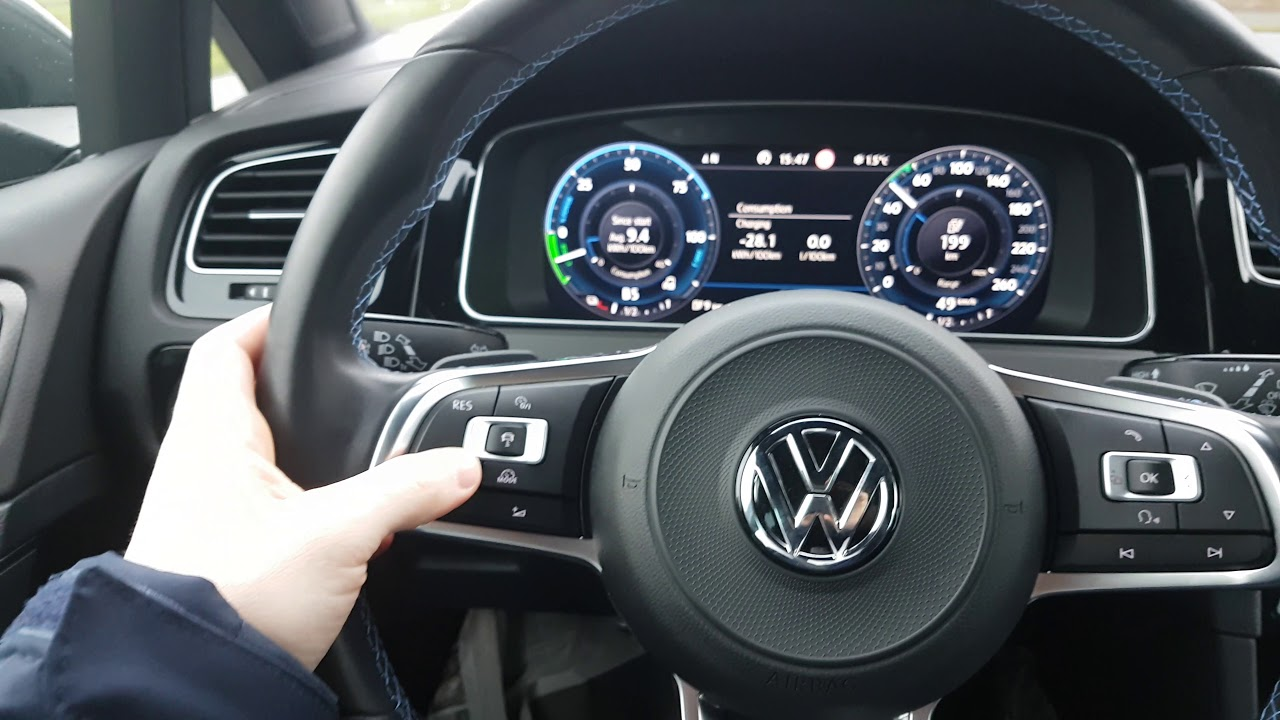 Vw Golf 7 Gte Explain And Test Drive One Pedal Brake In Real World Review