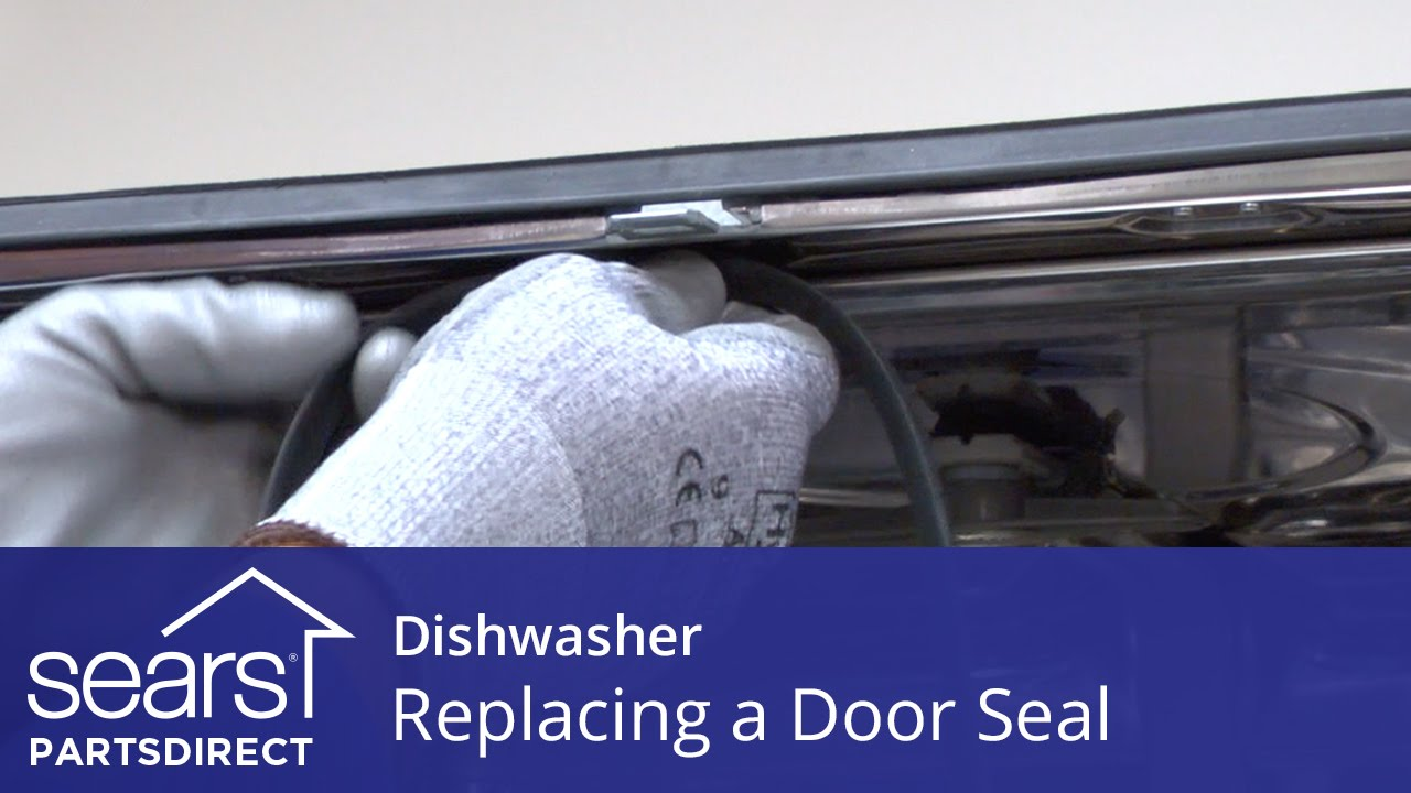 Replacing the Door Seal on a Dishwasher  YouTube