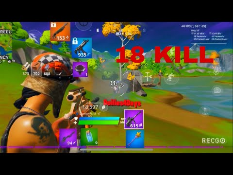 18 Kill Solo Win On New IPhone X HUD (with Mic) - Fortnite Mobile IPhone X 60 FPS (Gameplay)