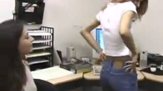 Repeat youtube video Two girls have a wedgie fight at work