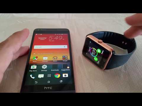 How to pair GT08 Smartwatch to HTC Desire/HTC One phone